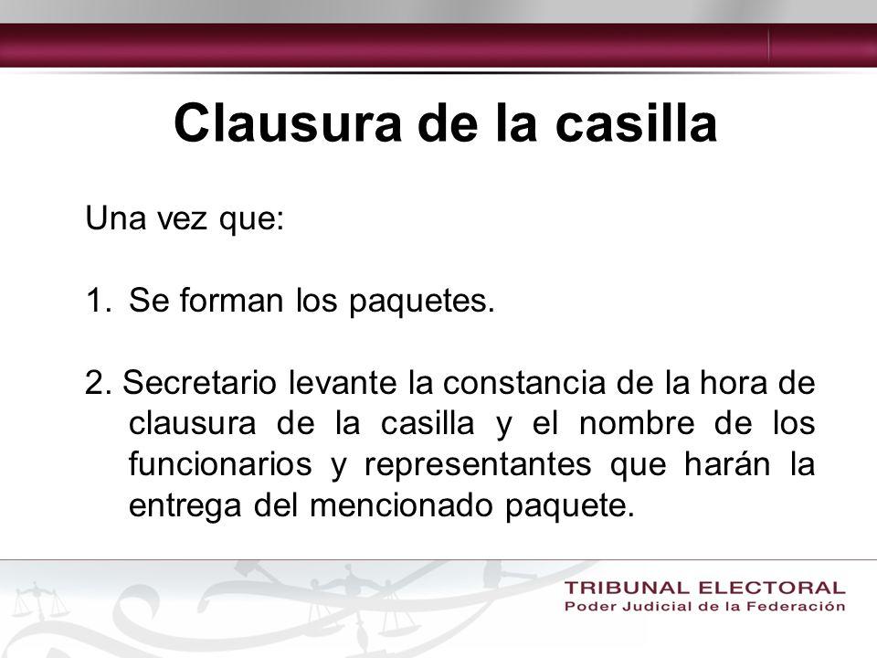 ELEMENTOS QUE DEBEN ANALIZARSE a) Entrega de paquetes electorales al Consejo Electoral que corresponda, fuera de los plazos que señala la ley.