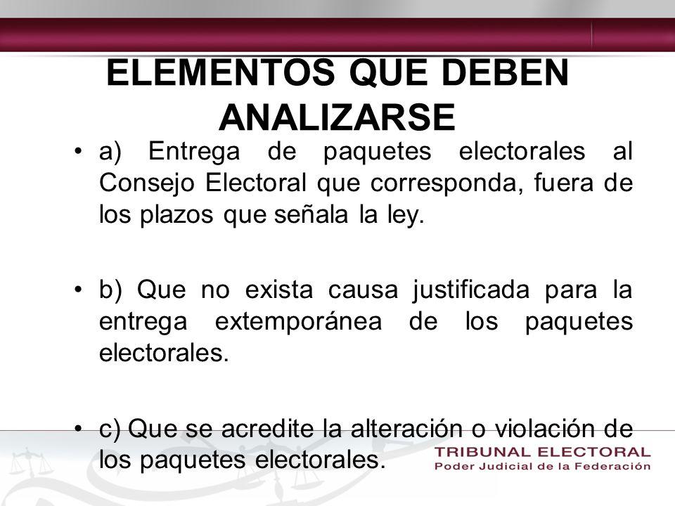 ¿QUIÉN DEBE ENTREGAR LOS PAQUETES ELECTORALES.Presidente de casilla: Personalmente.