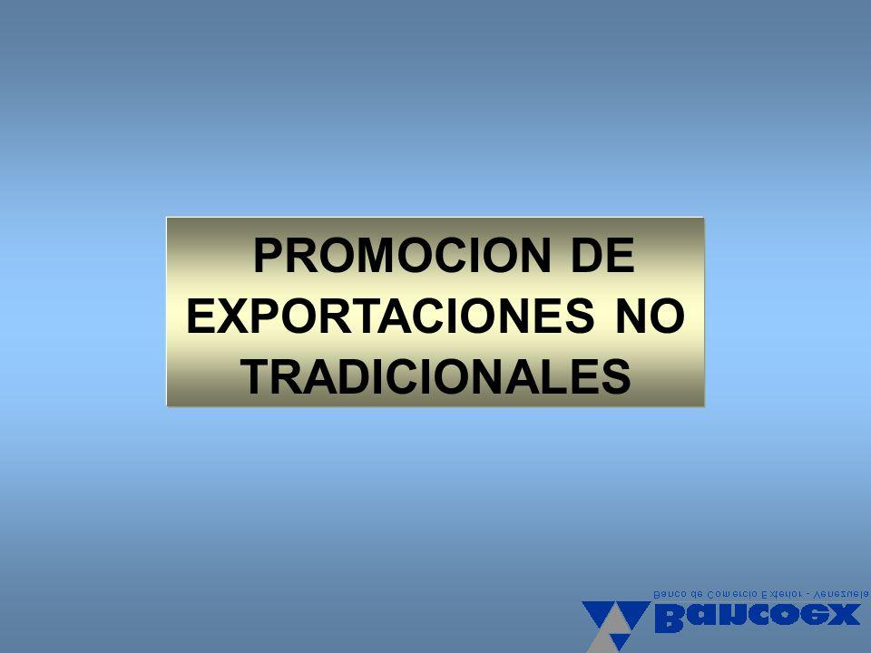 PROMOCION DE EXPORTACIONES NO TRADICIONALES