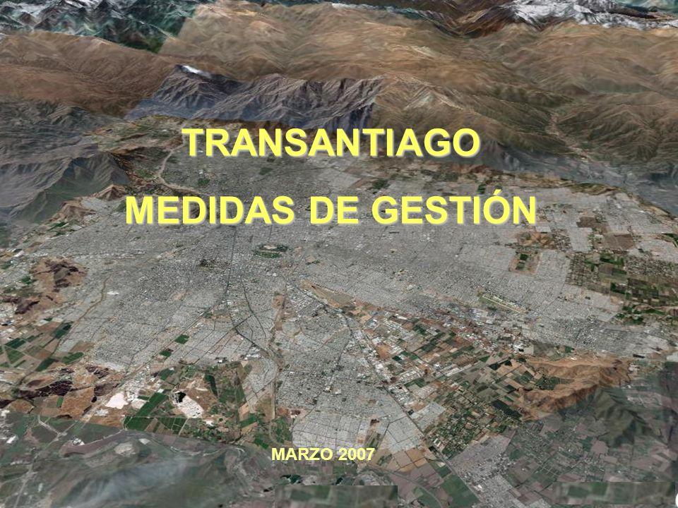 TRANSANTIAGO MEDIDAS DE GESTIÓN MARZO 2007