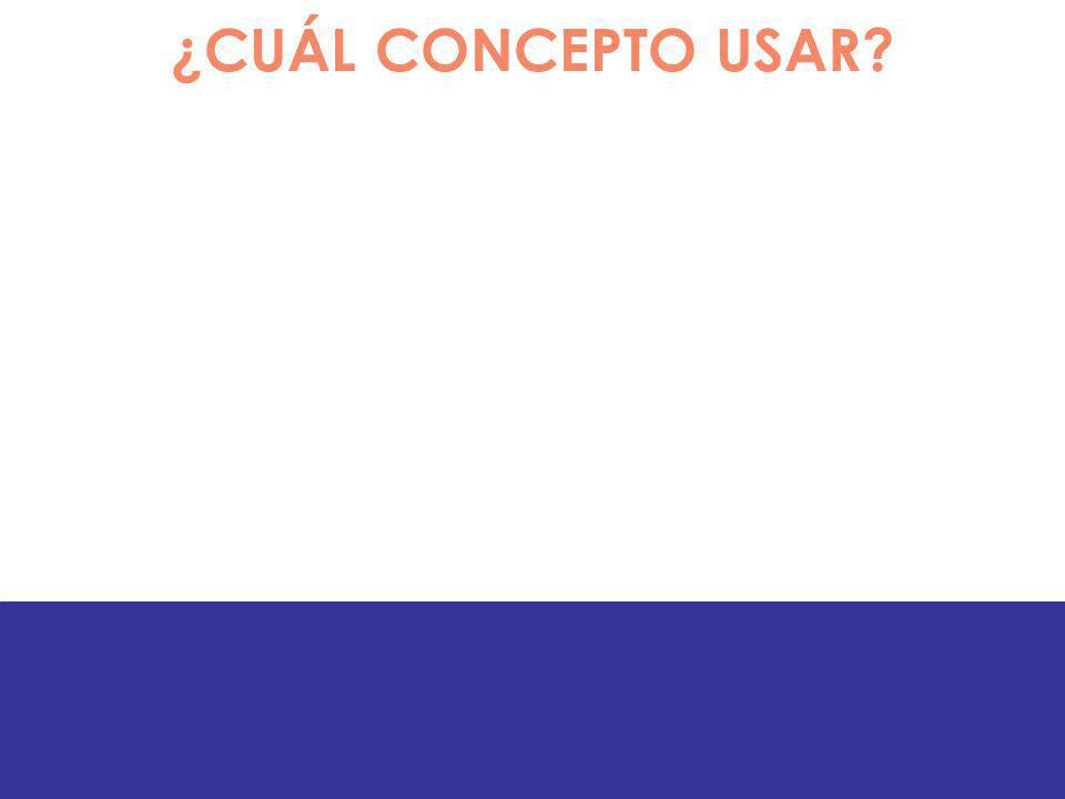 ¿CUÁL CONCEPTO USAR