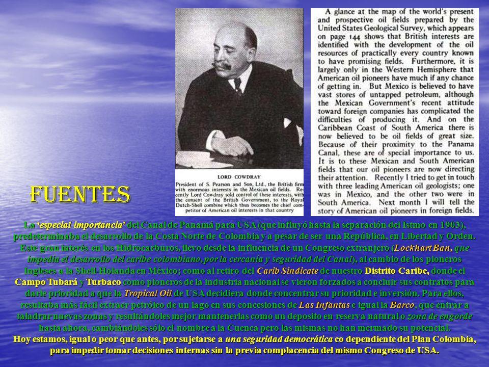 FUENTES La especial importancia del Canal de Panamá para USA (que influyó hasta la separación del Istmo en 1903), predeterminaba el desarrollo de la C