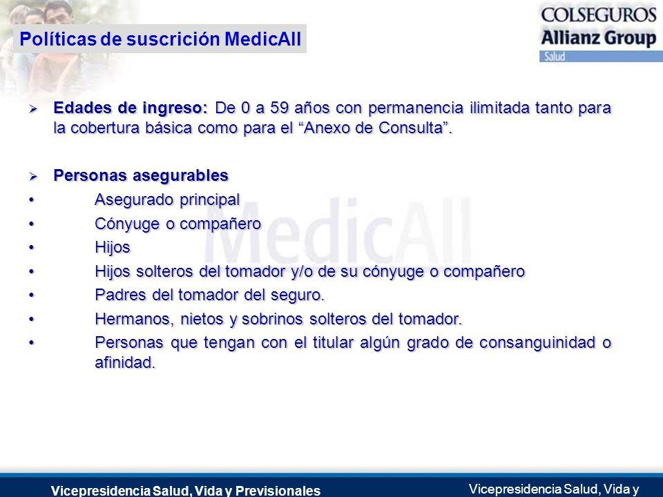 Producto Salud: MedicAll Vicepresidencia Salud, Vida y Previsionales Vicepresidencia Salud, Vida y Previsionales Julio 2.0041 de Septiembre de 2004 Ed