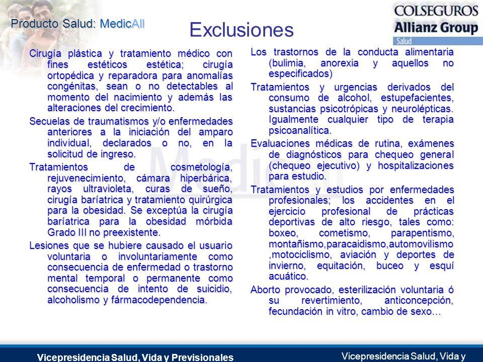 Producto Salud: MedicAll Vicepresidencia Salud, Vida y Previsionales Vicepresidencia Salud, Vida y Previsionales Julio 2.0041 de Septiembre de 2004 Ex