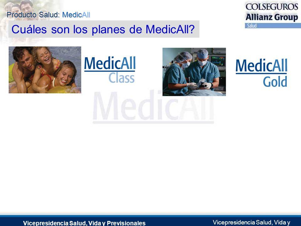 Producto Salud: MedicAll Vicepresidencia Salud, Vida y Previsionales Vicepresidencia Salud, Vida y Previsionales Julio 2.0041 de Septiembre de 2004 Cu