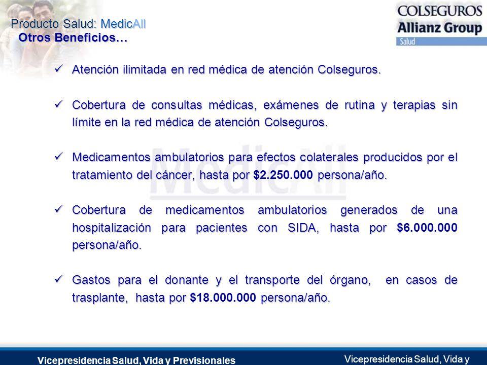 Producto Salud: MedicAll Vicepresidencia Salud, Vida y Previsionales Vicepresidencia Salud, Vida y Previsionales Julio 2.0041 de Septiembre de 2004 At