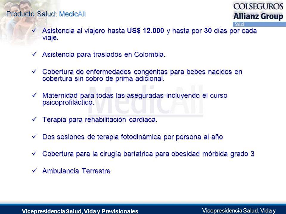 Producto Salud: MedicAll Vicepresidencia Salud, Vida y Previsionales Vicepresidencia Salud, Vida y Previsionales Julio 2.0041 de Septiembre de 2004 As