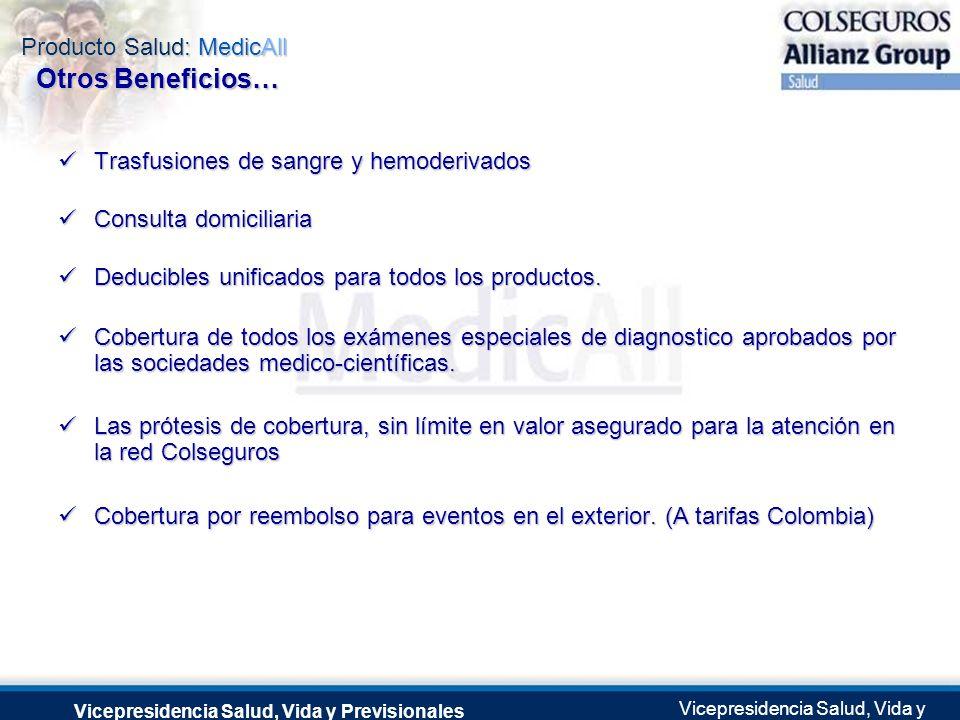 Producto Salud: MedicAll Vicepresidencia Salud, Vida y Previsionales Vicepresidencia Salud, Vida y Previsionales Julio 2.0041 de Septiembre de 2004 Tr
