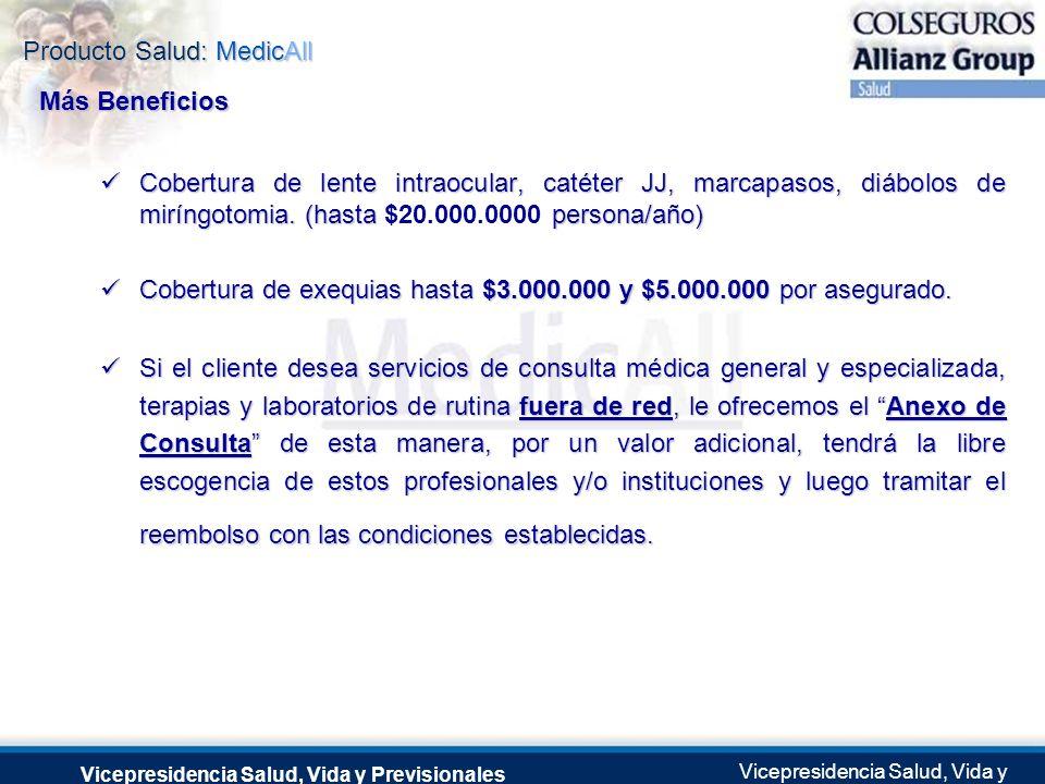 Producto Salud: MedicAll Vicepresidencia Salud, Vida y Previsionales Vicepresidencia Salud, Vida y Previsionales Julio 2.0041 de Septiembre de 2004 Co