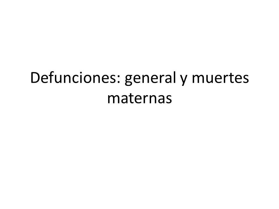 Defunciones: general y muertes maternas