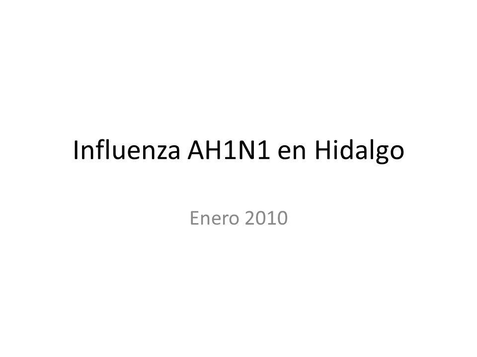 Influenza AH1N1 en Hidalgo Enero 2010