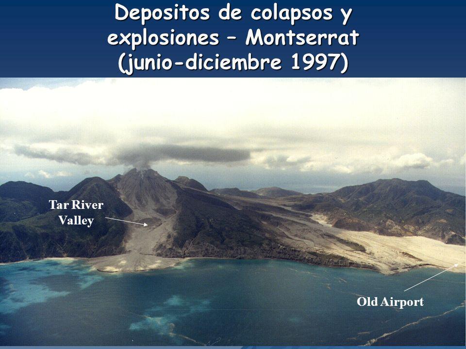 Depositos de colapsos y explosiones – Montserrat (junio-diciembre 1997) Tar River Valley Old Airport