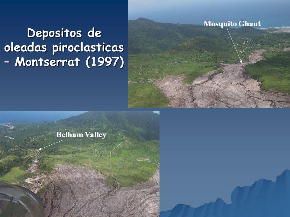 Depositos de oleadas piroclasticas – Montserrat (1997) Belham Valley Mosquito Ghaut
