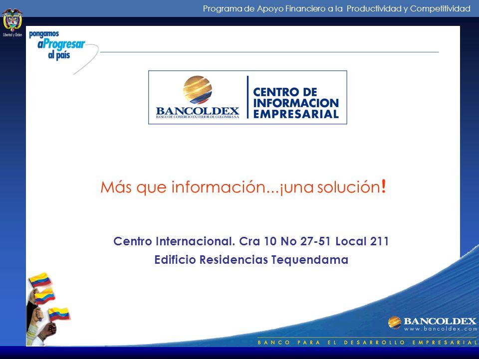 Programa de Apoyo Financiero a la Productividad y Competitividad Micros y pequeñas empresas FONDO NACIONAL DE GARANTIAS ENTIDADES DE APOYO A LAS MIPYM