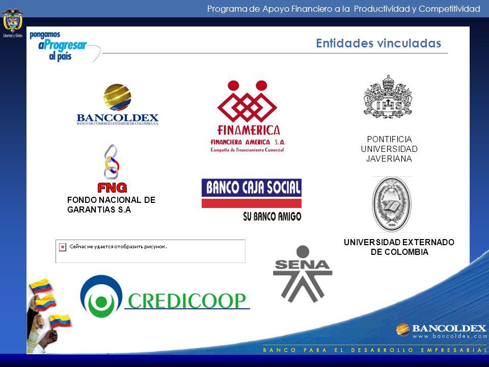 Programa de Apoyo Financiero a la Productividad y Competitividad Más que información...¡una solución ! Centro Internacional. Cra 10 No 27-51 Local 211