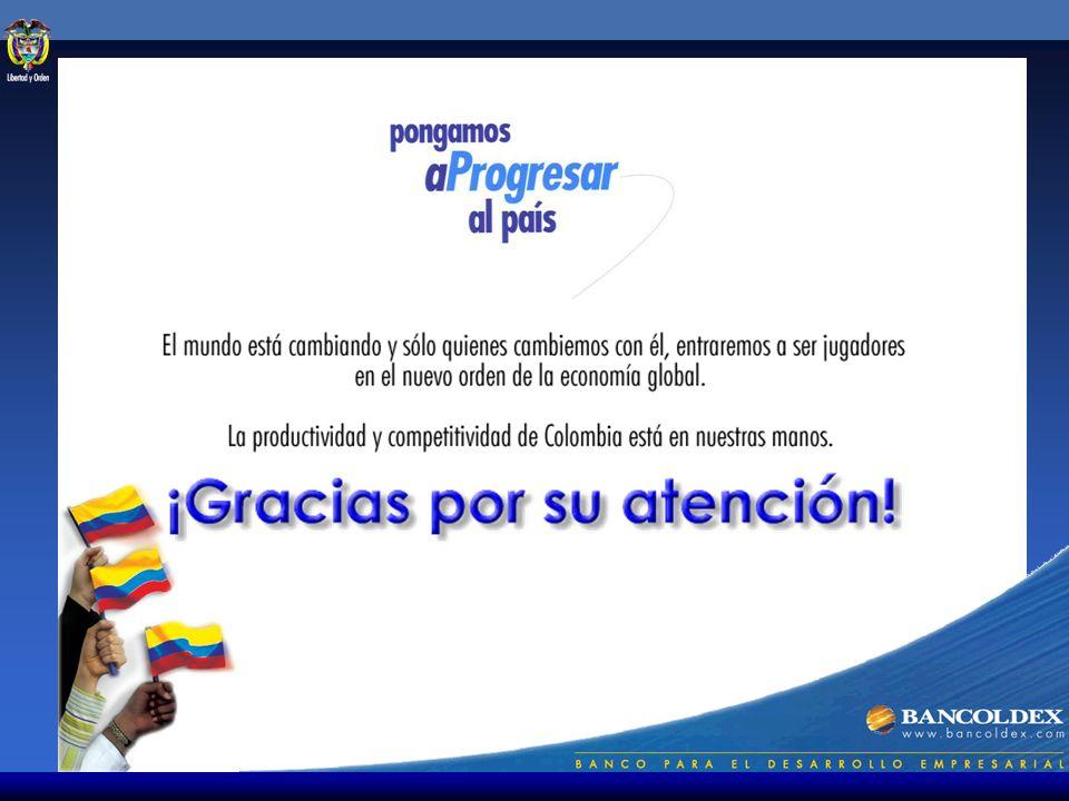 Programa de Apoyo Financiero a la Productividad y Competitividad Información institucional Visite nuestro portal en Internet: www.Bancóldex.com