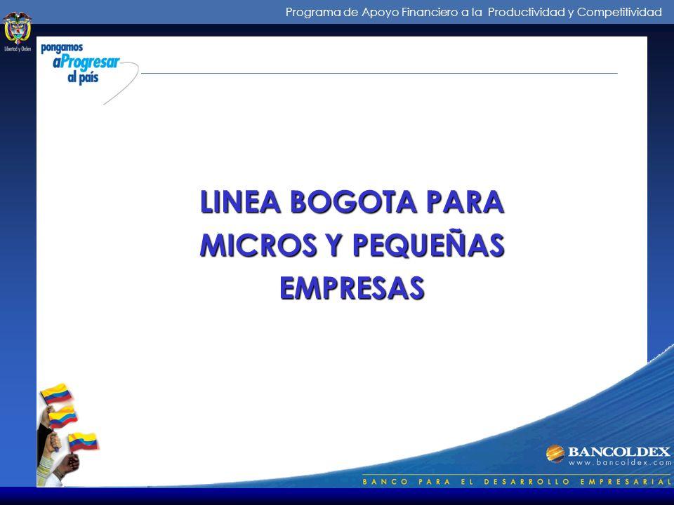 Programa de Apoyo Financiero a la Productividad y Competitividad PROGRAMA DE MICROEMPRESAS ENCUENTROS DE ORIENTACION Y ASESORIA FINANCIERA PROMOCION D