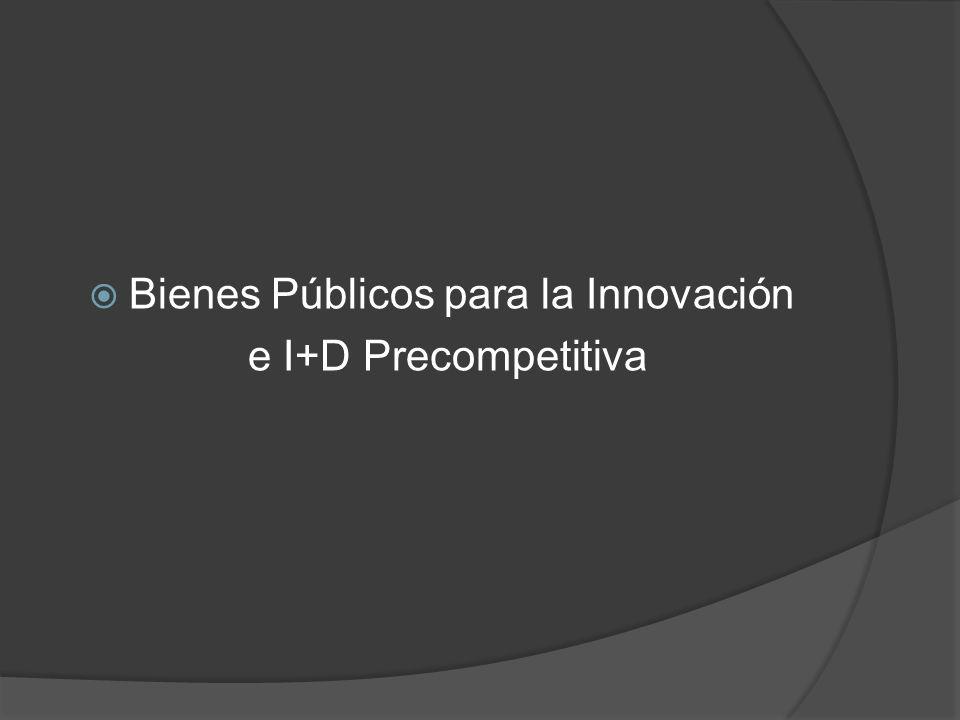 Bienes Públicos para la Innovación e I+D Precompetitiva