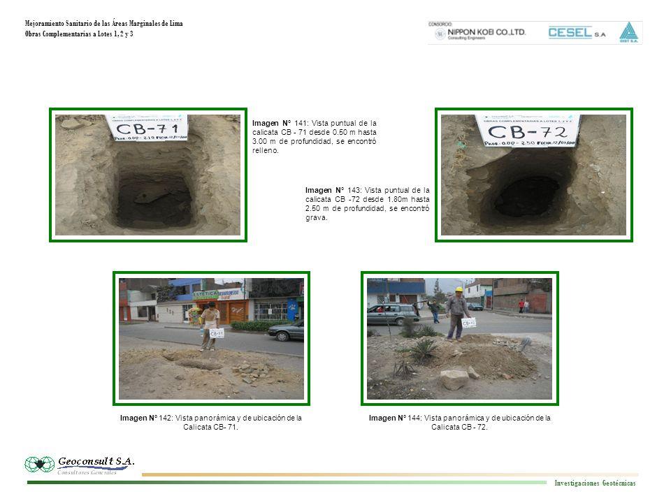 Mejoramiento Sanitario de las Áreas Marginales de Lima Obras Complementarias a Lotes 1, 2 y 3 Investigaciones Geotécnicas Imagen N° 144: Vista panorám