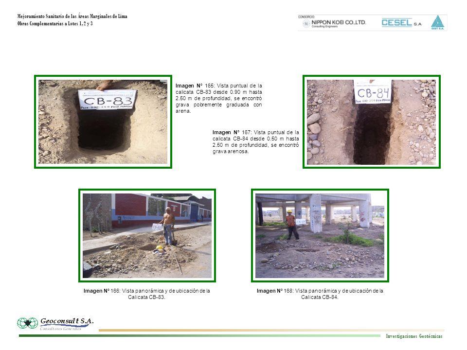 Mejoramiento Sanitario de las Áreas Marginales de Lima Obras Complementarias a Lotes 1, 2 y 3 Investigaciones Geotécnicas Imagen N° 168: Vista panorám