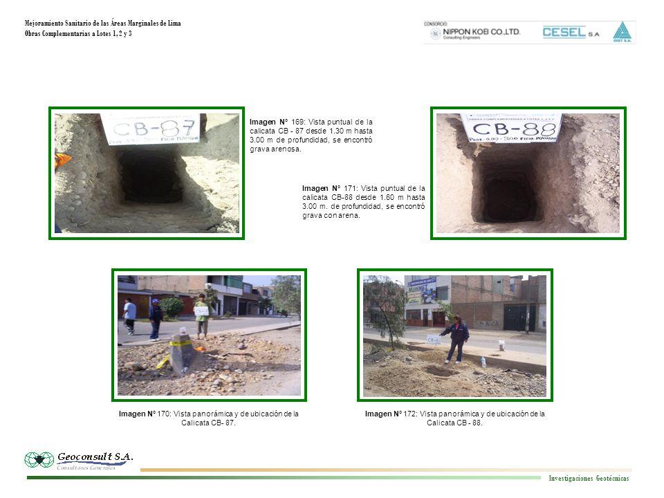 Mejoramiento Sanitario de las Áreas Marginales de Lima Obras Complementarias a Lotes 1, 2 y 3 Investigaciones Geotécnicas Imagen N° 172: Vista panorám