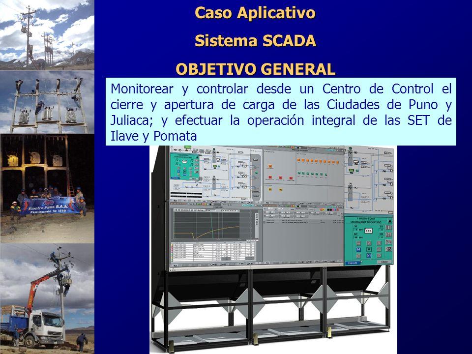 Monitorear y controlar desde un Centro de Control el cierre y apertura de carga de las Ciudades de Puno y Juliaca; y efectuar la operación integral de
