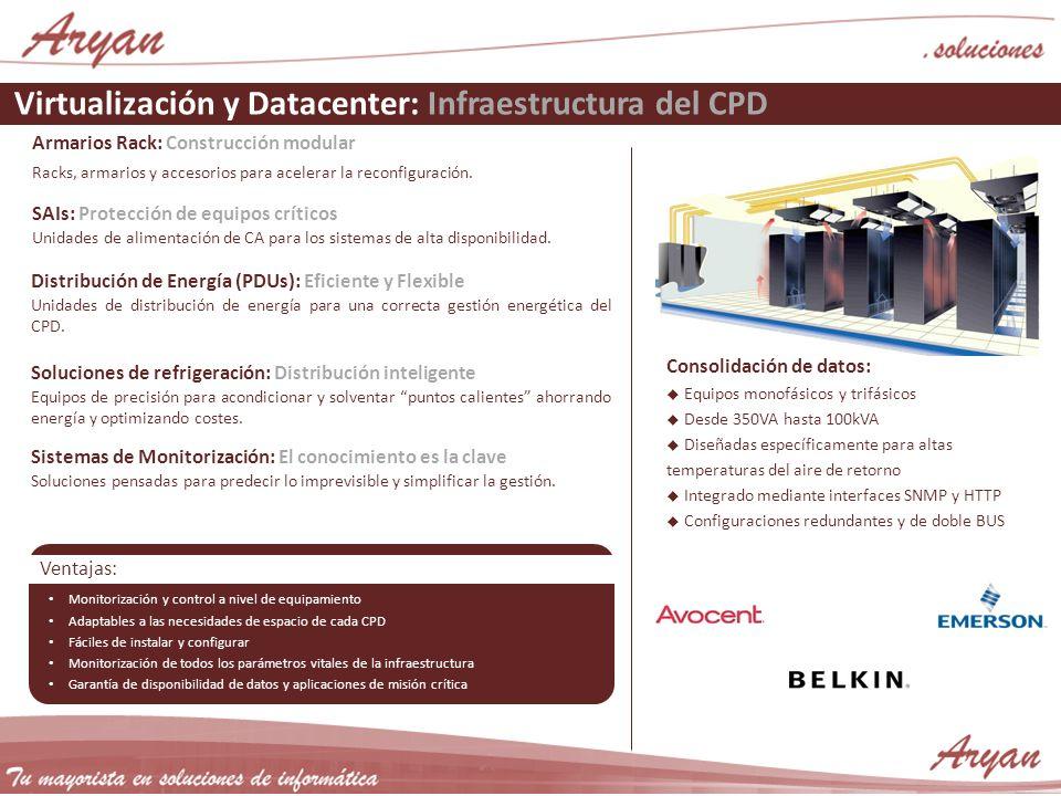 Virtualización y Datacenter: Infraestructura del CPD Armarios Rack: Construcción modular Racks, armarios y accesorios para acelerar la reconfiguración