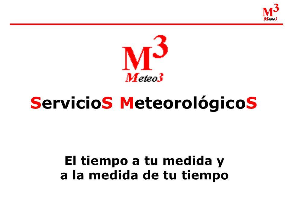 ServicioS MeteorológicoS El tiempo a tu medida y a la medida de tu tiempo