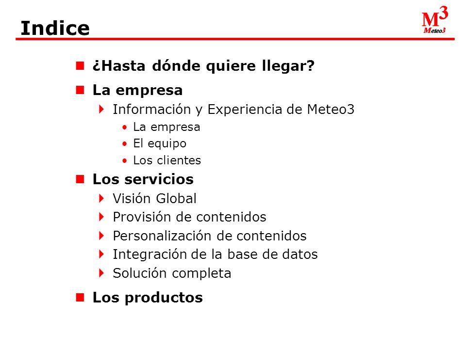 La empresA Información y Experiencia de Meteo3 Los clientes: Navegalia - Divulgación