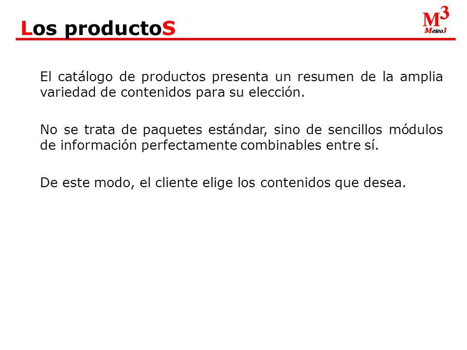 El catálogo de productos presenta un resumen de la amplia variedad de contenidos para su elección.