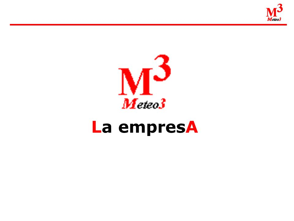 Meteo3 nace en 1997 con el objetivo de dar un servicio de calidad en materia de Información Meteorológica y Climática, adaptándose siempre a las necesidades de cada cliente, tanto en la forma como en su contenido.