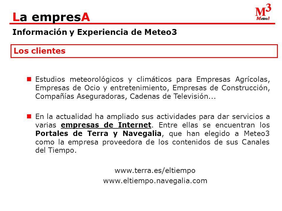 Información y Experiencia de Meteo3 La empresA Los clientes: Terra - Portada