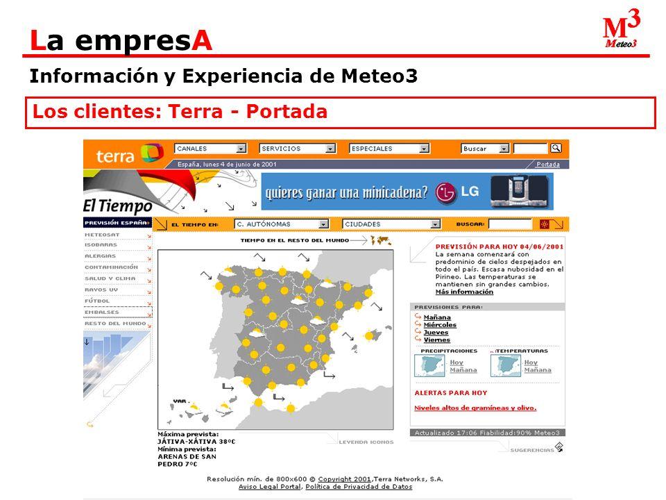 Información y Experiencia de Meteo3 La empresA Los clientes: Terra - Alergias