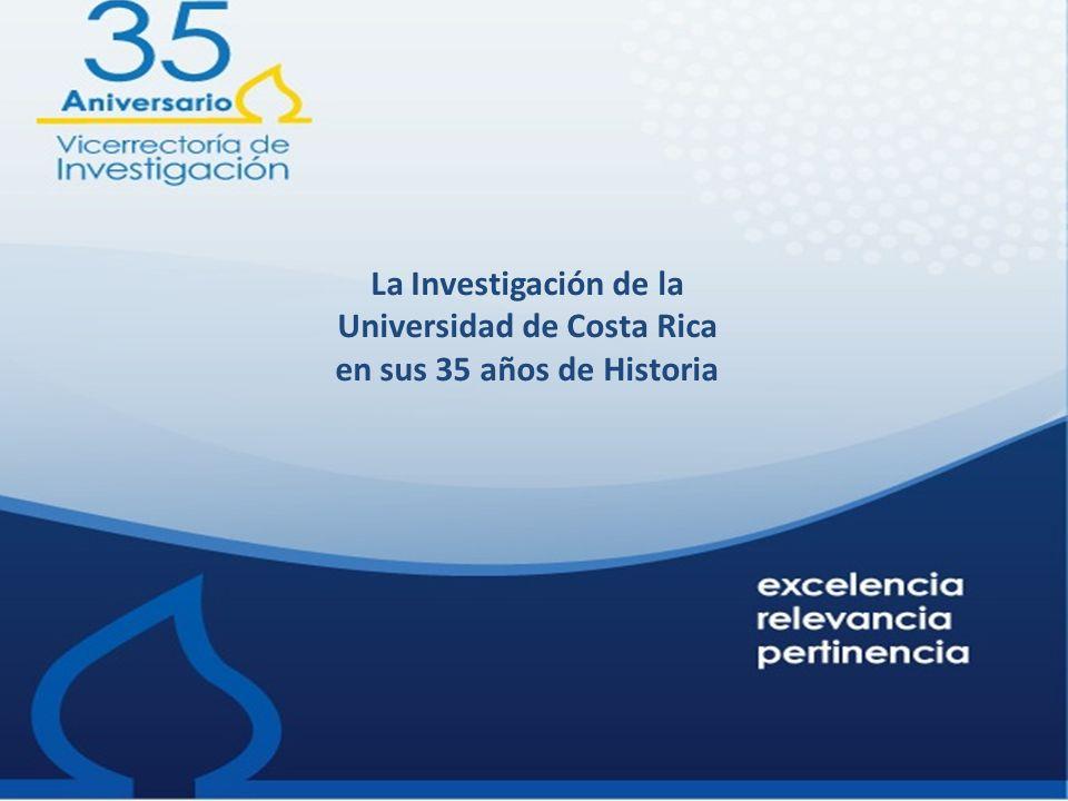 La Investigación de la Universidad de Costa Rica en sus 35 años de Historia