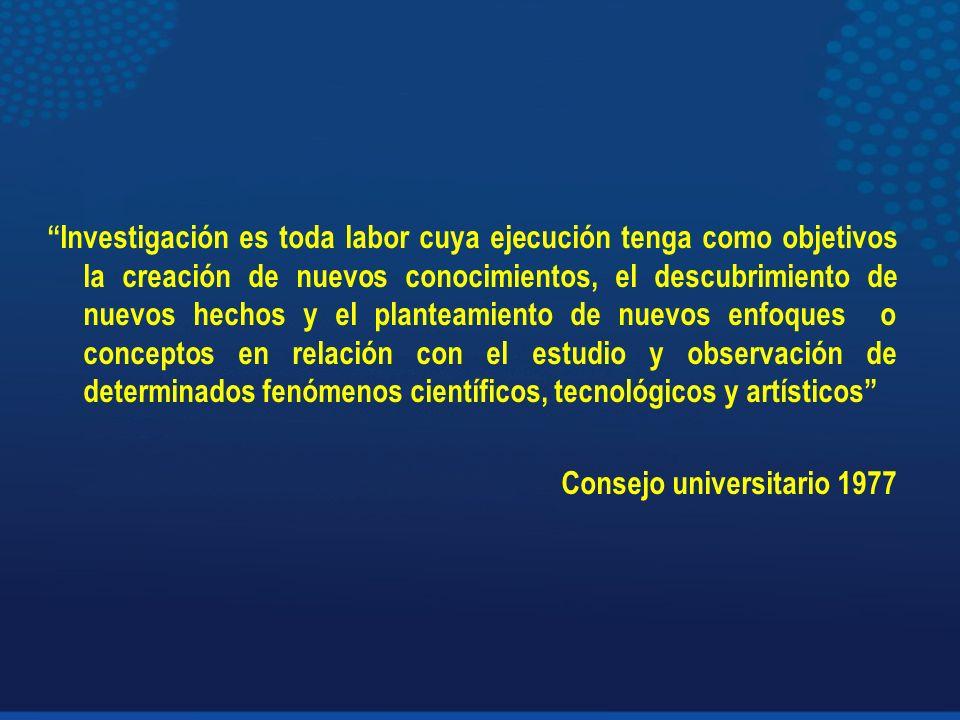 Proyectos inscritos en la vicerrectoría de Investigación según cantones de Costa Rica. 2006-2009