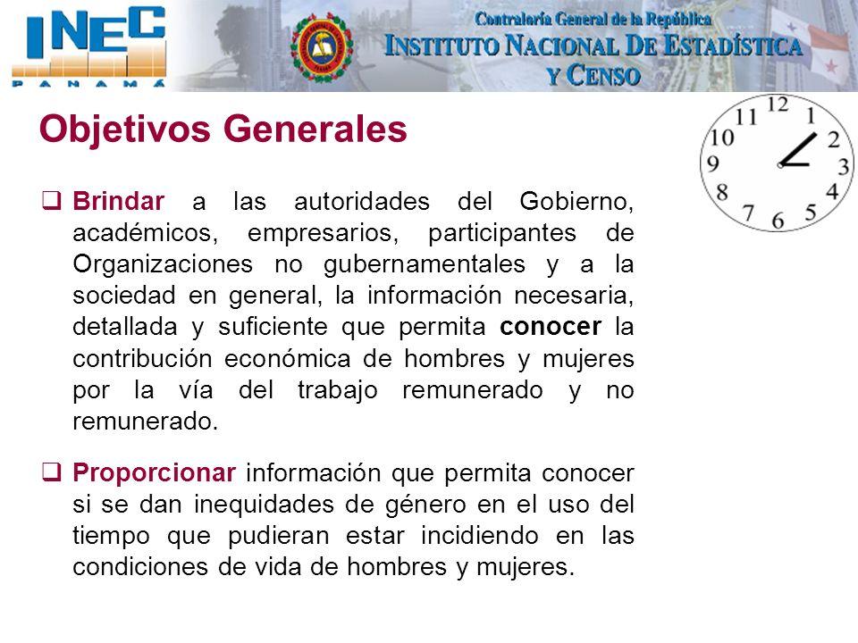 Objetivos Generales Brindar a las autoridades del Gobierno, académicos, empresarios, participantes de Organizaciones no gubernamentales y a la socieda