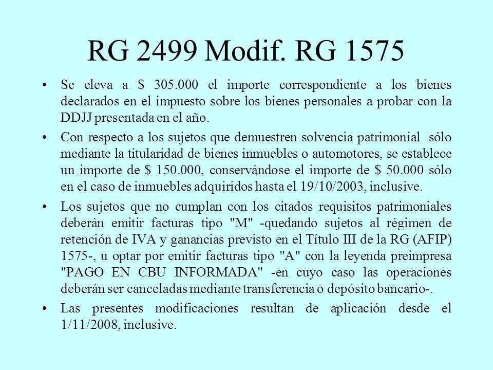 RG 2499 Modif.