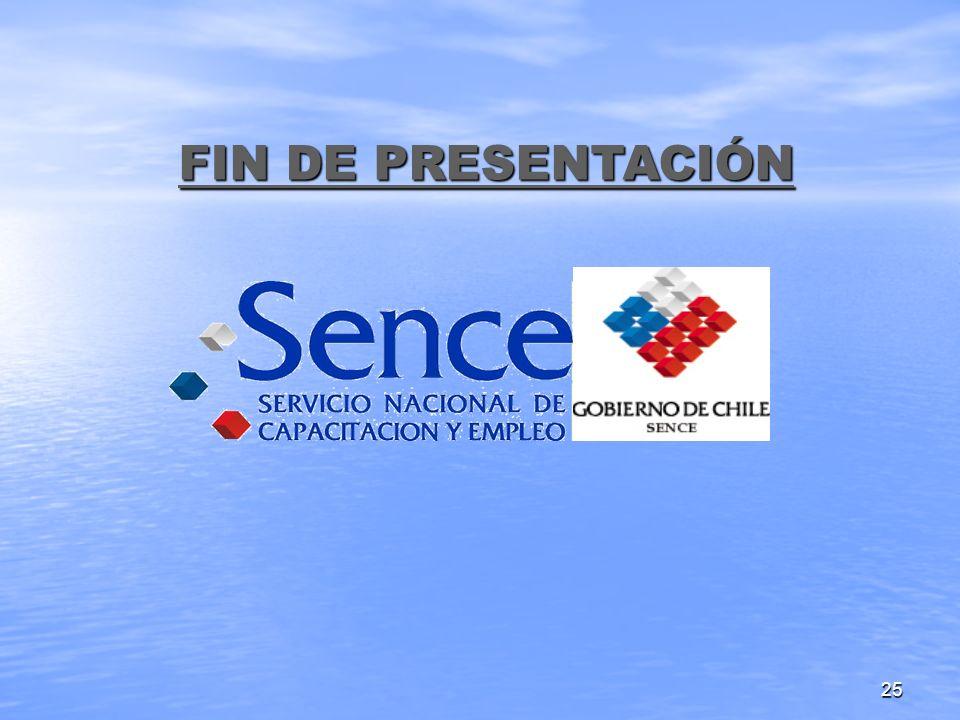 25 FIN DE PRESENTACIÓN