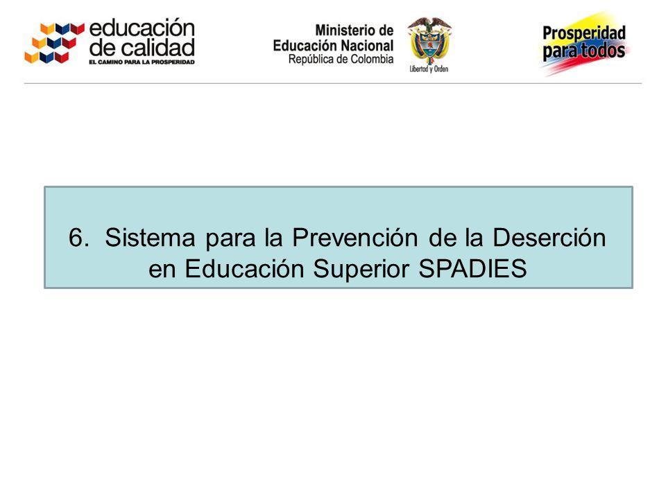 6. Sistema para la Prevención de la Deserción en Educación Superior SPADIES