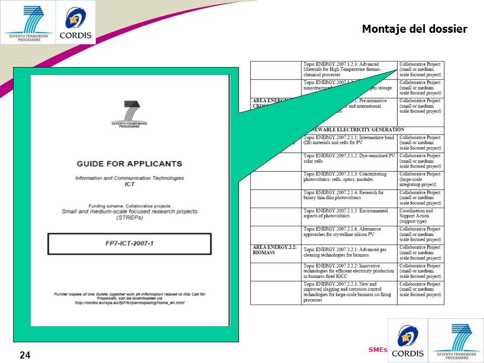 SMEs 24 Montaje del dossier