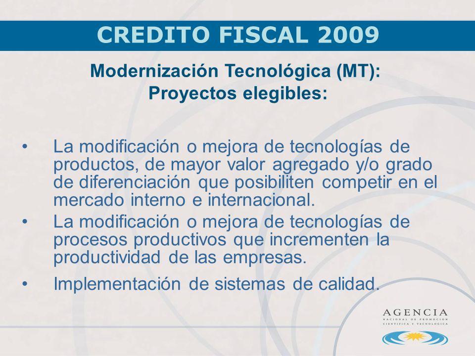 La modificación o mejora de tecnologías de productos, de mayor valor agregado y/o grado de diferenciación que posibiliten competir en el mercado interno e internacional.