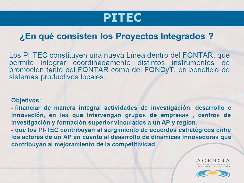 ¿En qué consisten los Proyectos Integrados .