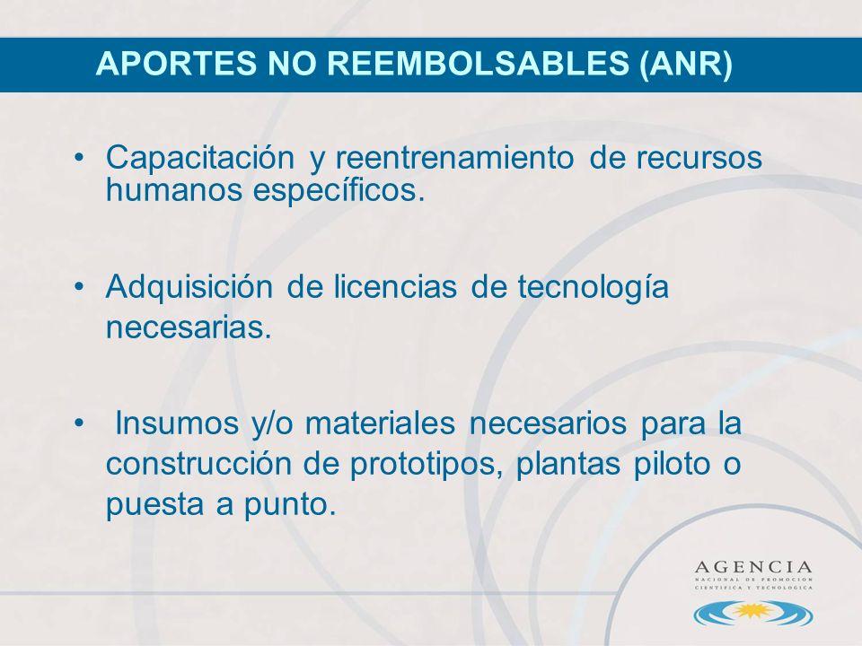 Capacitación y reentrenamiento de recursos humanos específicos.