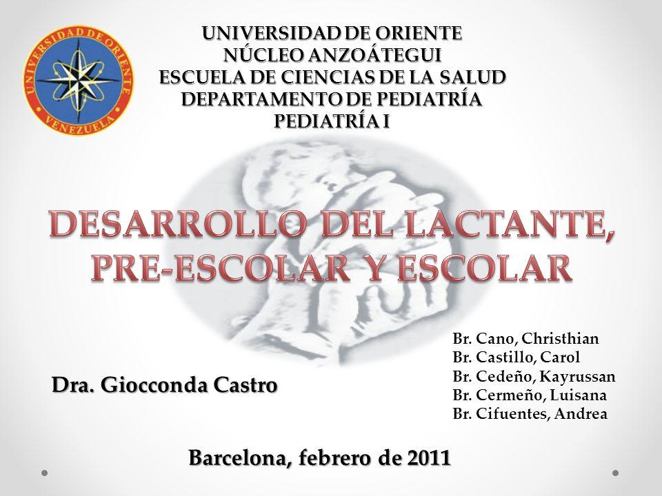 UNIVERSIDAD DE ORIENTE NÚCLEO ANZOÁTEGUI ESCUELA DE CIENCIAS DE LA SALUD DEPARTAMENTO DE PEDIATRÍA PEDIATRÍA I Dra.