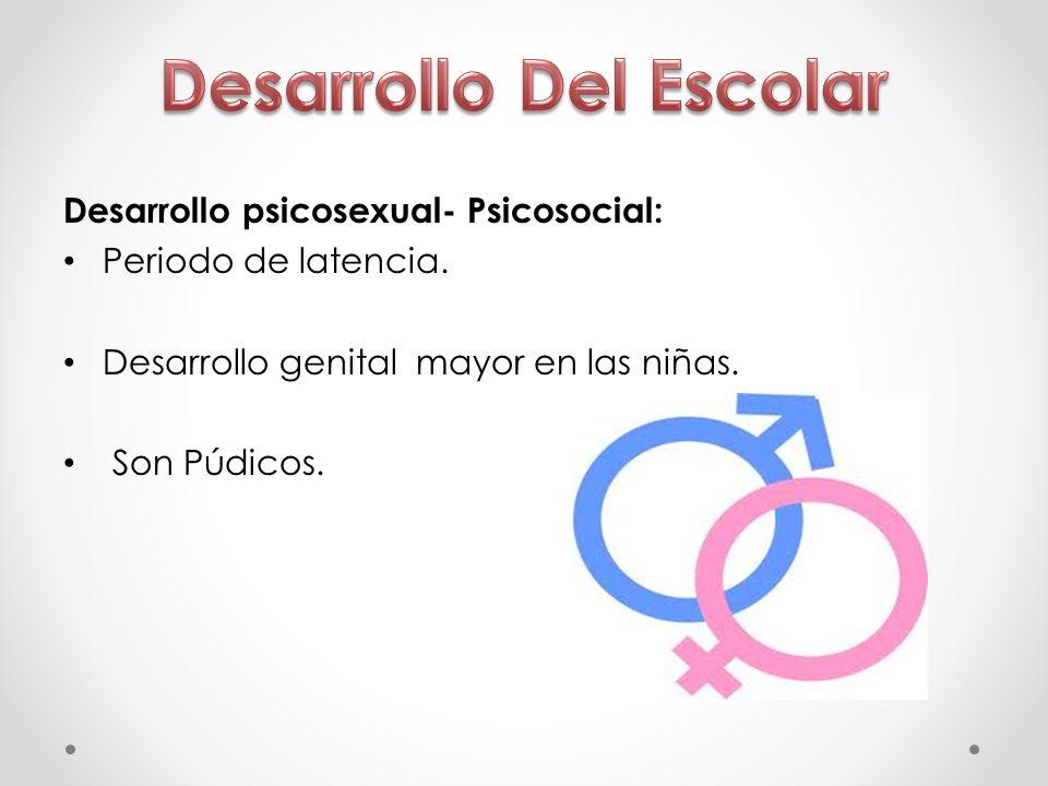 Desarrollo psicosexual- Psicosocial: Periodo de latencia.