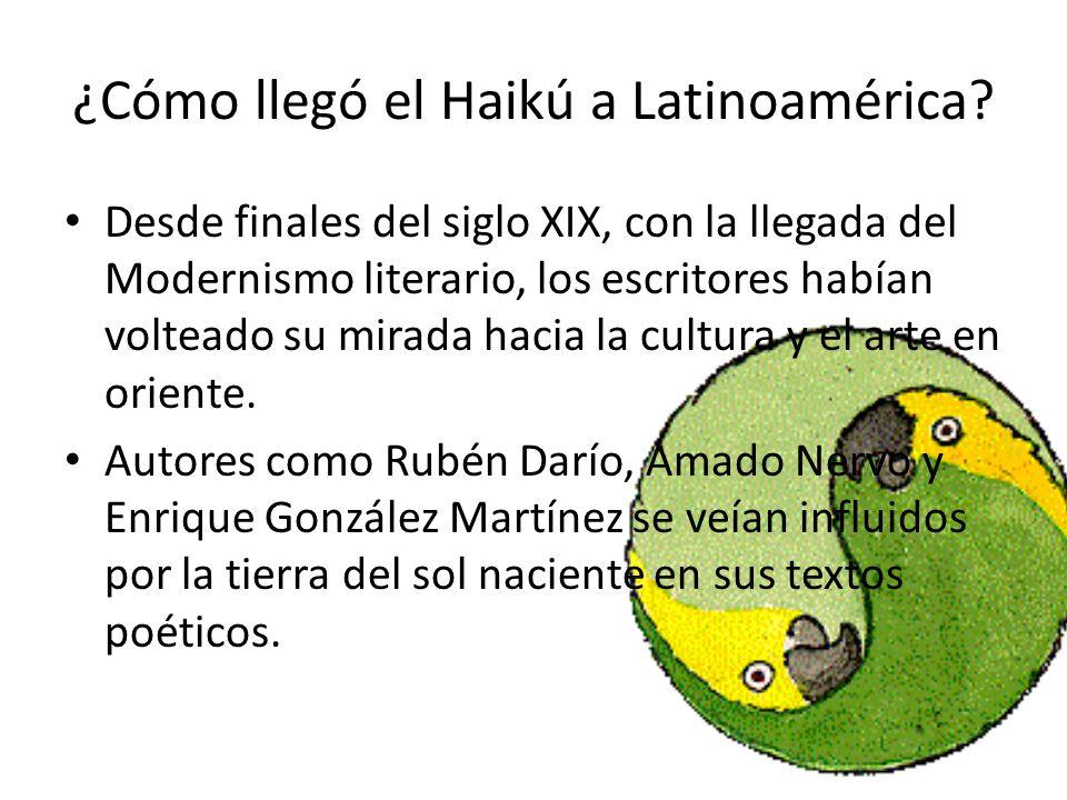 Fue José Juan Tablada, escritor mexicano situado entre el modernismo y la vanguardia, quien introdujo el Haikú a las letras latinoamericanas.