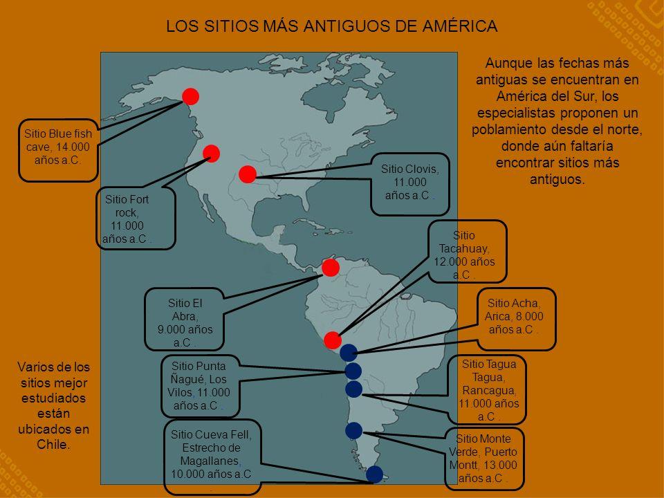 LOS SITIOS MÁS ANTIGUOS DE AMÉRICA Sitio Blue fish cave, 14.000 años a.C.
