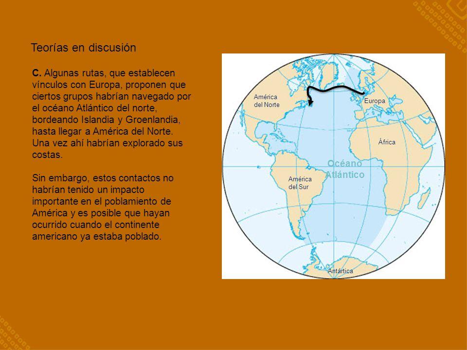 Océano Atlántico América del Norte América del Sur Antártica África Europa Teorías en discusión C.