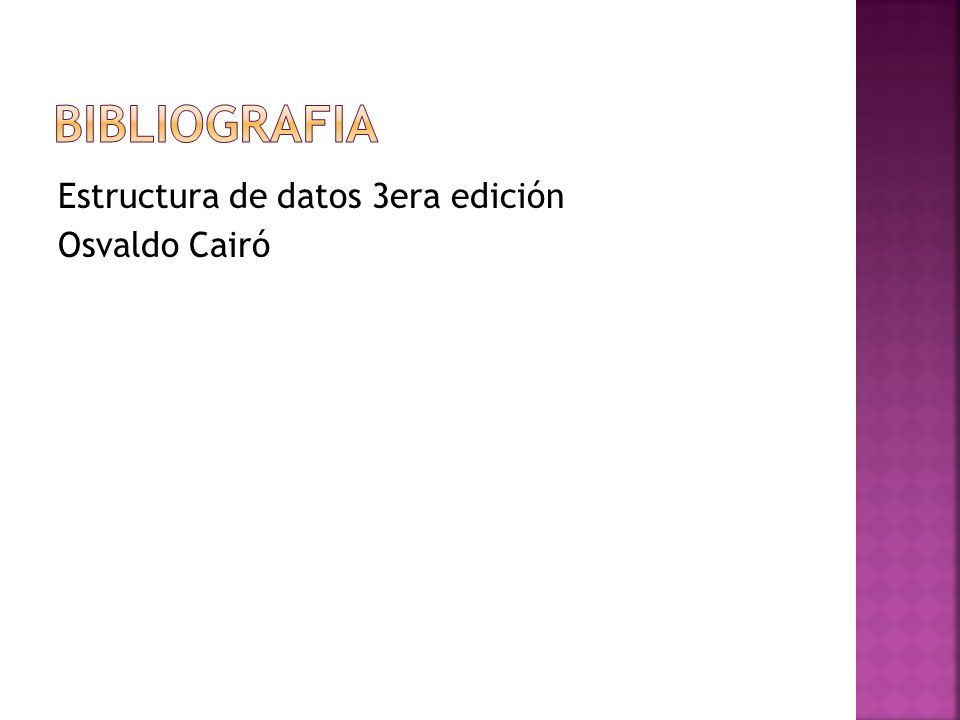 Estructura de datos 3era edición Osvaldo Cairó