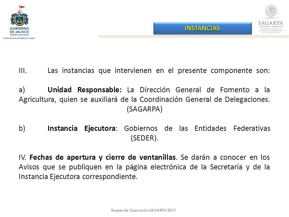 Reglas de Operación SAGARPA 2013 DIFERENCIAS RO 2012 - 2013 ConceptoRO 2012RO 2013Diferencia 2013 - 2012 Micro túnel Apoyo fijo de $100,000.00 (cien mil pesos 00/100 M.N.) por hectárea, hasta $1, 000,000.00 (un millón de pesos 00/100 M.N.) por proyecto.